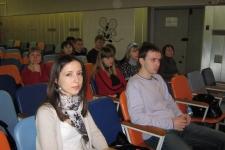 Члены жюри олимпиады. Евгения Дёмина и Максим Арсеньев.