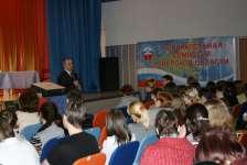 В.Н.Песенко - Председатель Избирательной комиссии. Торжественное открытие олимпиады