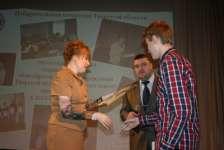 Награждение победителя олимпиады Виктора Морозова (учащийся 11 класса МОУ СОШ № 35 г. Твери)