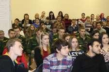 Сбор команд ВУЗов в Актовом зале библиотеки им. М.Горького