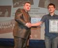 Награждение трехкратного победителя Олимпиады Вадима Калтайса (учащийся 11 класса МОУ СОШ № 35 г. Твери)